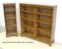 B8 bookcases in Burr Walnut