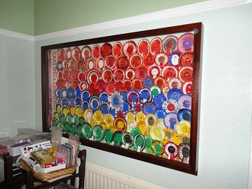 Sapele Rosette Display Frame.