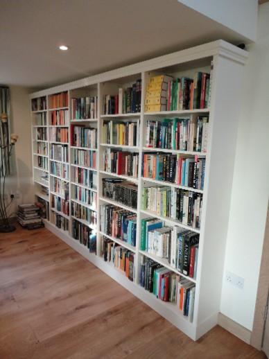 Fully Fitted Bookcase in Painted Finish