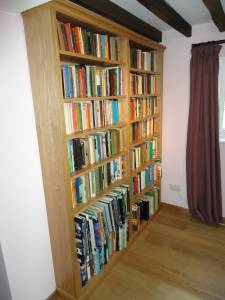 Free Standing Natural Oak Bookcase
